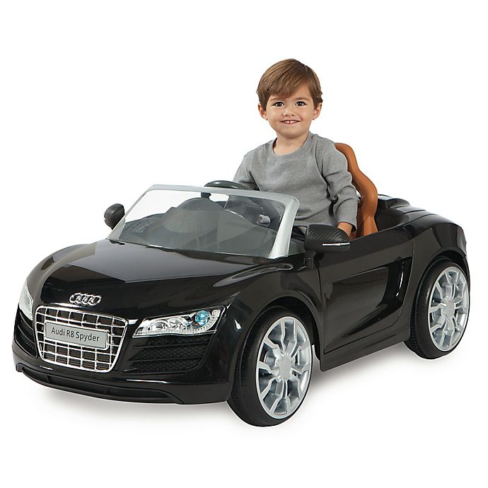 Alternate image 1 for Audi R8 Spyder 6V Battery Ride-On Convertible Sports Car in Black