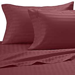 Damask Stripe 500-Thread-Count Cotton Pillowcases (Set of 2)