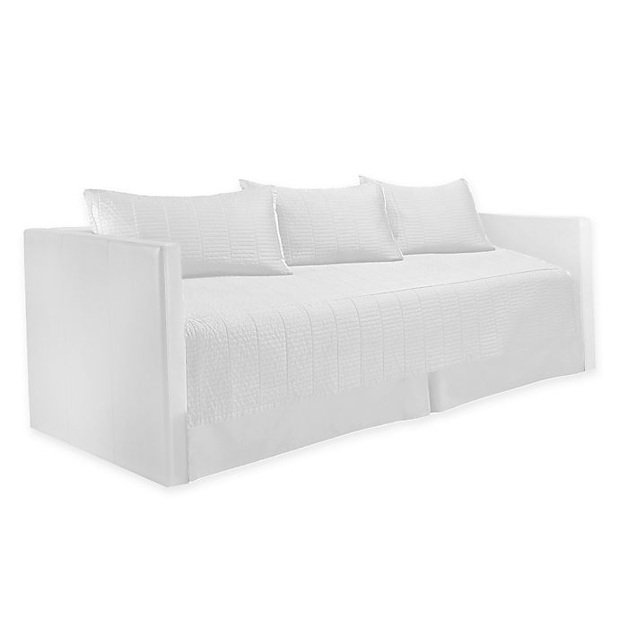 Alternate image 1 for Real Simple® Dune Daybed Bedding Set in White