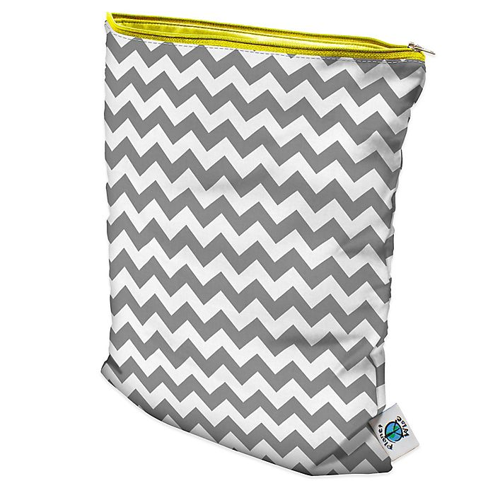 Alternate image 1 for Planet Wise Wet Bag in Grey Chevron