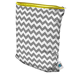 Planet Wise Wet Bag in Grey Chevron