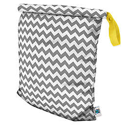 Planet Wise Large Roll-Down Wet Bag in Grey Chevron