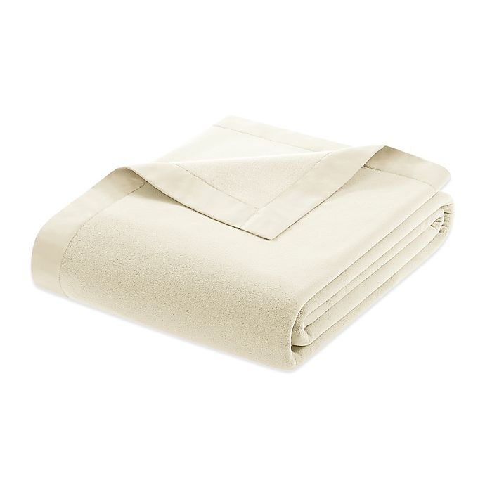 Alternate image 1 for True North by Sleep Philosophy Microfleece King Blanket with Satin Binding in Ivory