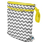 Planet Wise Wet/Dry Bag in Grey Chevron