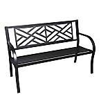 Maze Cast Iron Park Bench