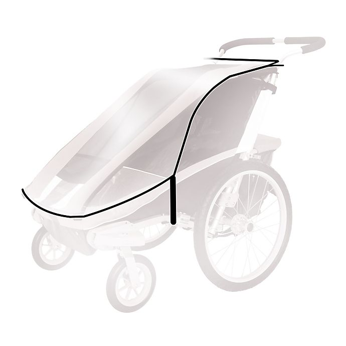 Alternate image 1 for Thule Active with Kids Rain Cover for Chariot Cheetah 2 Child Carrier