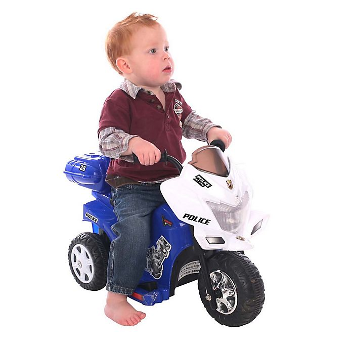 Alternate image 1 for Kid Motorz Lil Patrol 6-Volt Motorcycle Ride-On in Blue & White