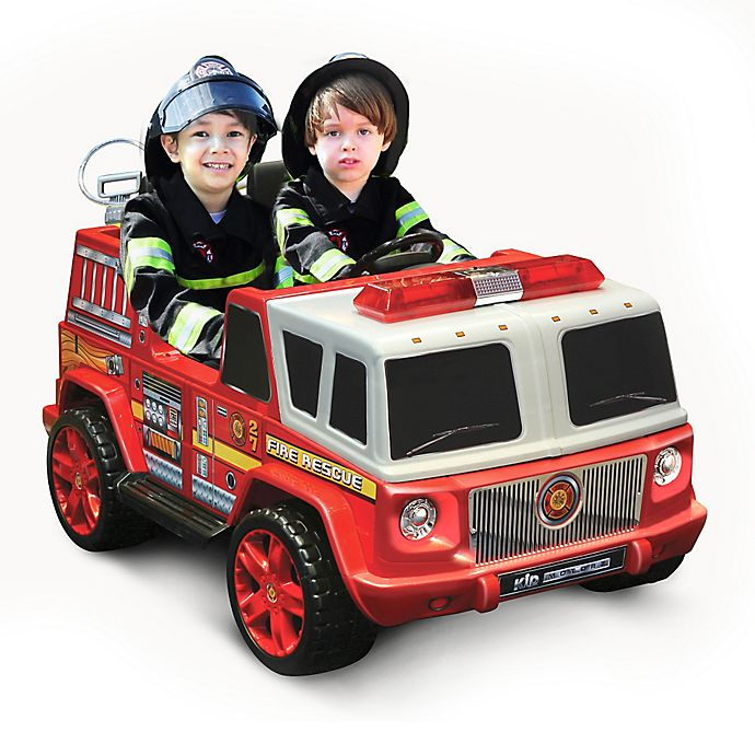 Alternate image 1 for Kid Motorz Fire Engine 2-Seater 12-Volt Ride-On in Red