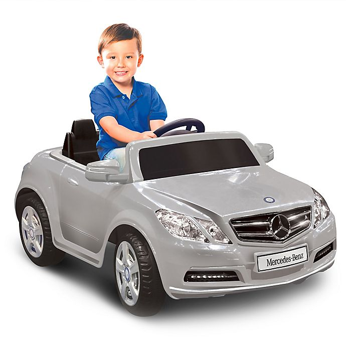 Alternate image 1 for Kid Motorz Mercedes Benz E550 1-Seater 6-Volt Ride-On in Silver