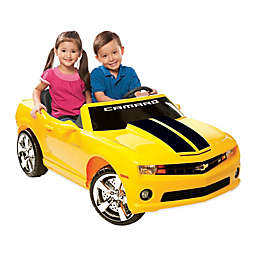 Kid Motorz Chevrolet Racing Camaro 2-Seater 12-Volt Ride-On in Yellow