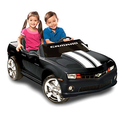 Kid Motorz Chevrolet Racing Camaro 2-Seater 12-Volt Ride-On in Black
