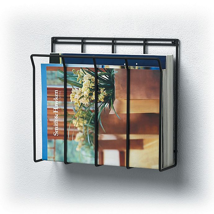 Wall Mount Wire Magazine Rack Newspaper Caddy