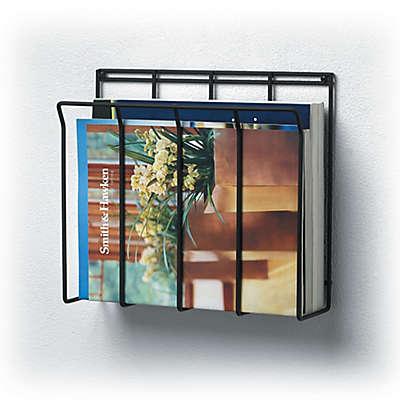 Wall Mount Wire Magazine Rack & Newspaper Caddy