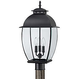 Quoizel Bain Outdoor Post Lantern in Mystic Black