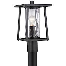 Quoizel Lodge Outdoor Post Lantern in Mystic Black