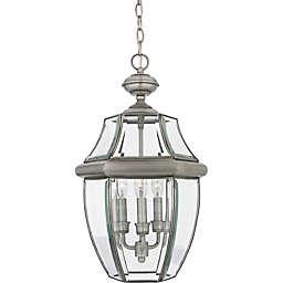 Quoizel Newbury Ceiling Mount Outdoor Large Hanging Lantern in Pewter
