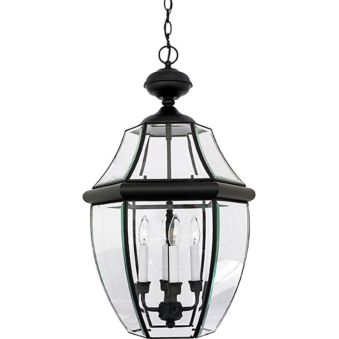 Quoizel Newbury Ceiling Mount Outdoor Extra Large Hanging Lantern In Mystic Black