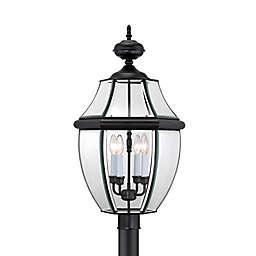 Quoizel Newbury Outdoor Extra-Large Post Lantern in Mystic Black
