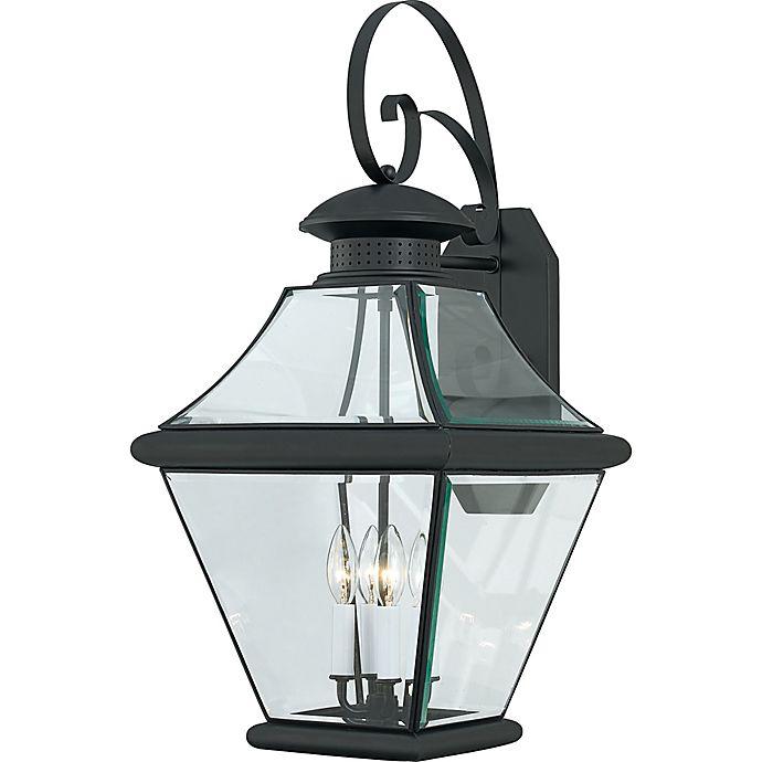 Alternate image 1 for Quoizel® Rutledge 4-Light Outdoor Wall-Mount Lantern in Mystic Black