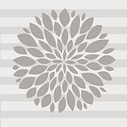 Glenna Jean Flower Wall Decal in Grey