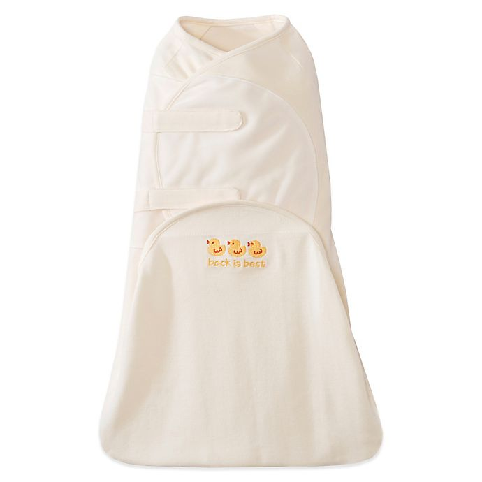 Alternate image 1 for HALO® SwaddleSure™ Cotton Adjustable Swaddling Pouch in Cream