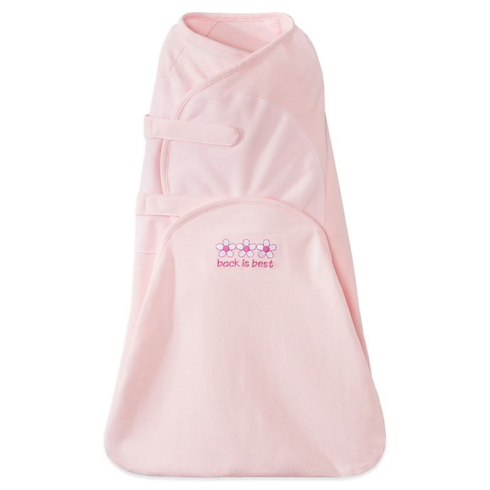 Alternate image 1 for HALO® SwaddleSure™ Cotton Adjustable Swaddling Pouch in Pink