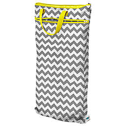 Planet Wise Hanging Wet/Dry Bag in Grey Chevron