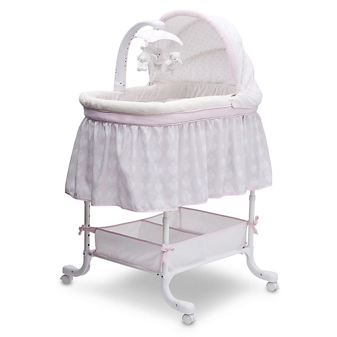 Alternate image 1 for Simmons Kids® Lucia Deluxe Gliding Bassinet