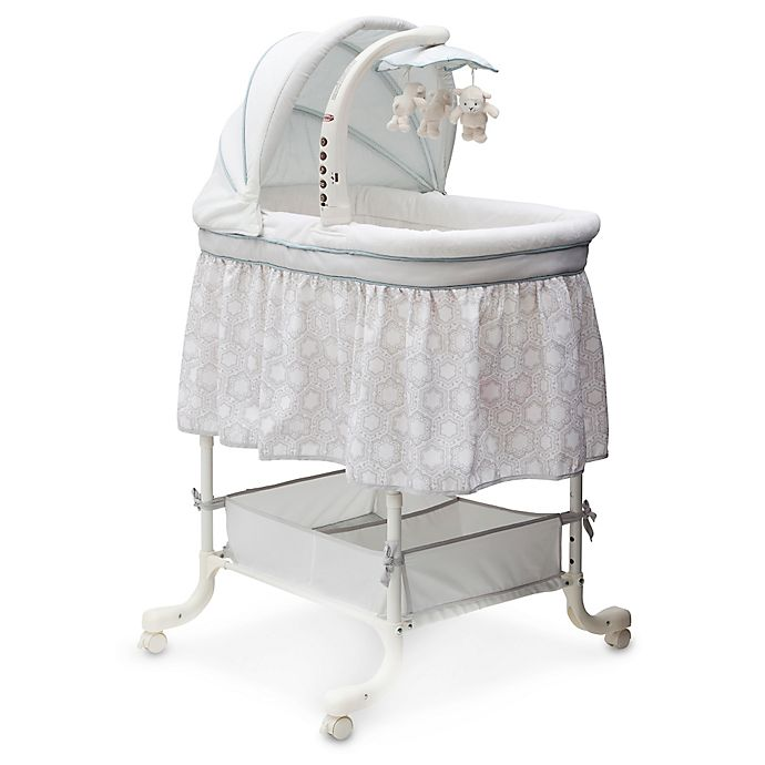Alternate image 1 for Simmons Kids Seaside Deluxe Gliding Bassinet by Delta Children