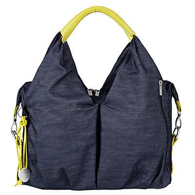 Lassig Green Label Neckline Diaper Bag in Denim Blue