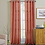 Weston 95-Inch Grommet Top Window Curtain Panel in Coral