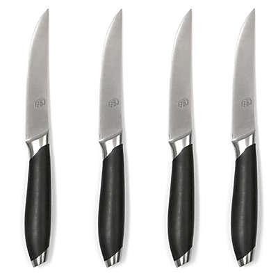 Gela Nitrogen Infused 4-Piece Steak Knife Set in Black