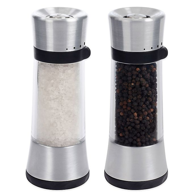 Alternate image 1 for OXO Good Grips® Sleek Lua Salt and Pepper Mills