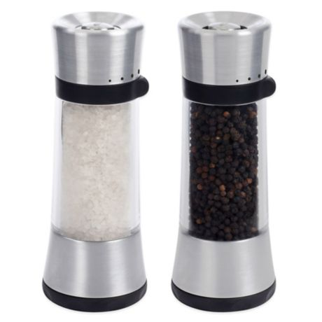 Oxo Good Grips 174 Sleek Lua Salt And Pepper Mills Bed Bath