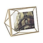 Umbra® Prisma 4-Inch x 6-Inch Photo Frame in Matte Brass