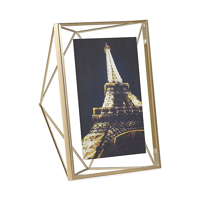 Alternate image 1 for Umbra® Prisma 5-Inch x 7-Inch Photo Frame in Matte Brass