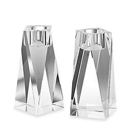 Oleg Cassini 6'' Brigitte Crystal Candlesticks (Set of 2)