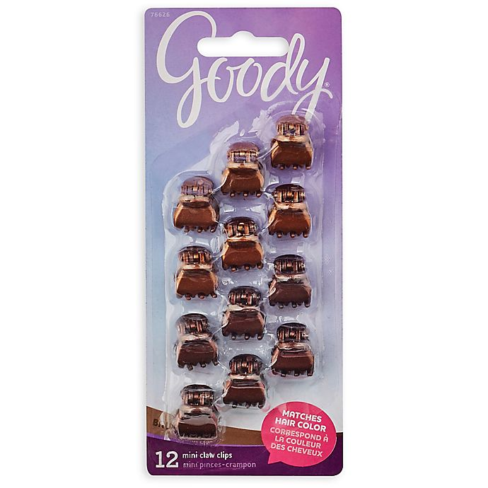 Alternate image 1 for Goody® Colour Collection™ 12-Pack Mini Claw Clip in Brunette