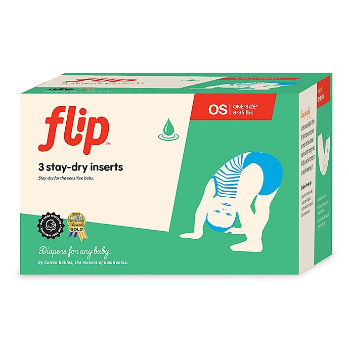 Alternate image 1 for Flip™ 3-Count Stay-Dry Diaper Inserts