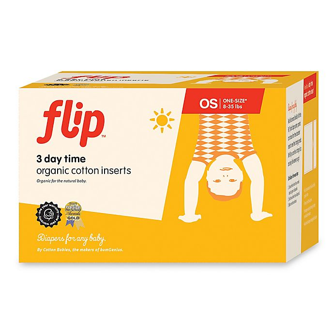 Alternate image 1 for Flip™ 3-Count Day Time Organic Cotton Inserts