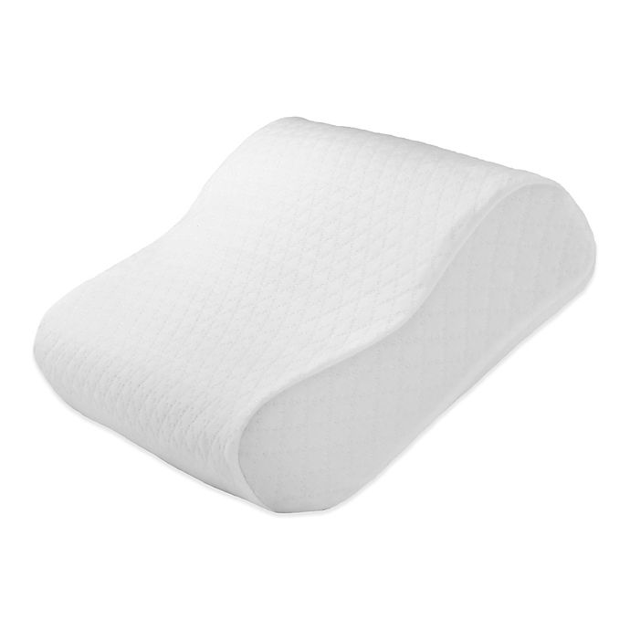 Alternate image 1 for Healthy Nights™ Circular Knit Cool Finish Pillow Protector for Contour Memory Foam Pillows