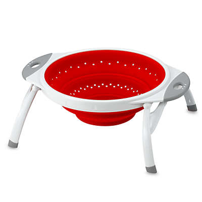 Dexas® Popware™ 2-1/2 qt. Expandable/Collapsible Silicone Colander in Red