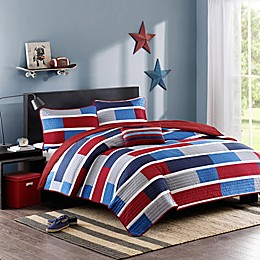 Mi Zone Bradley Colorblock Printed Twin/Twin XL Coverlet Bedding Set
