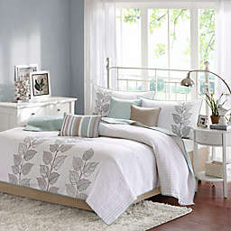 Madison Park Caelie Reversible Coverlet Set in Blue