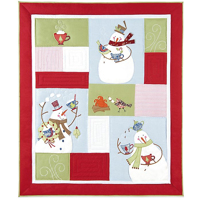 Alternate image 1 for Holiday Toasty Wishes Quilted Throw Blanket