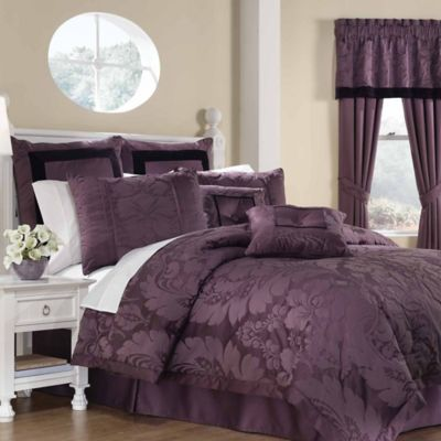 appealing plum bedroom decor   Lorenzo 8-Piece Comforter Set   Bed Bath & Beyond
