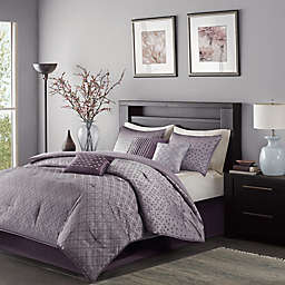Madison Park Biloxi 7-Piece California King Comforter Set in Purple