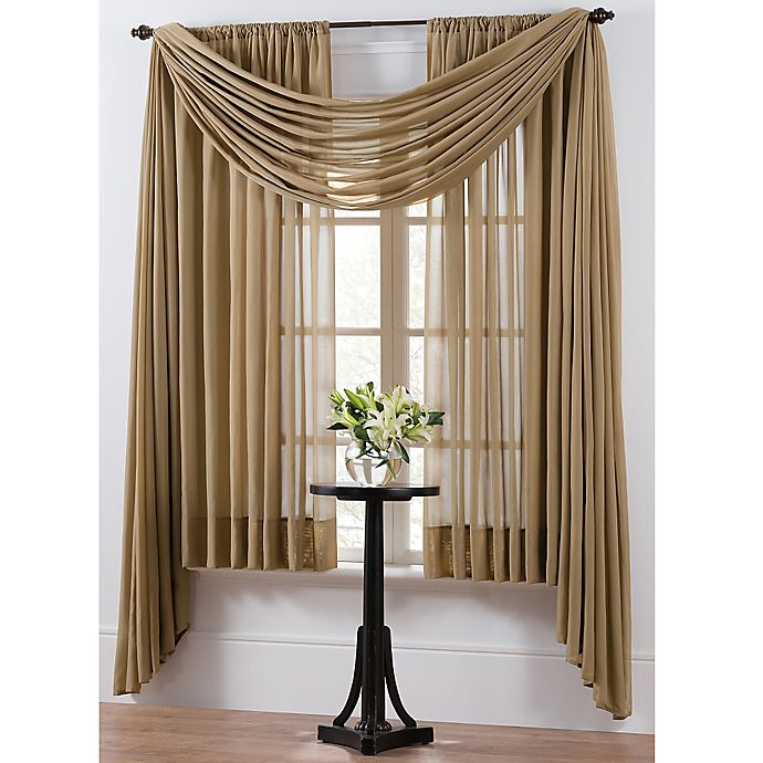 Alternate image 1 for Smart Sheer™ Insulating Voile 95-Inch Window Curtain Panel in Taupe