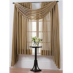 Smart Sheer™ Insulating Voile 108-Inch Window Curtain Panel in Taupe