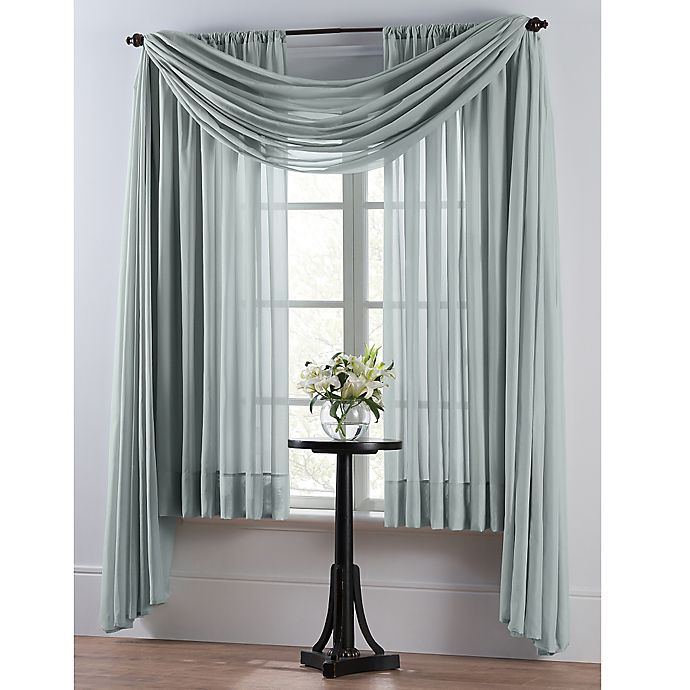 Alternate image 1 for Smart Sheer™ Insulating Voile 95-Inch Window Curtain Panel in Spa Blue